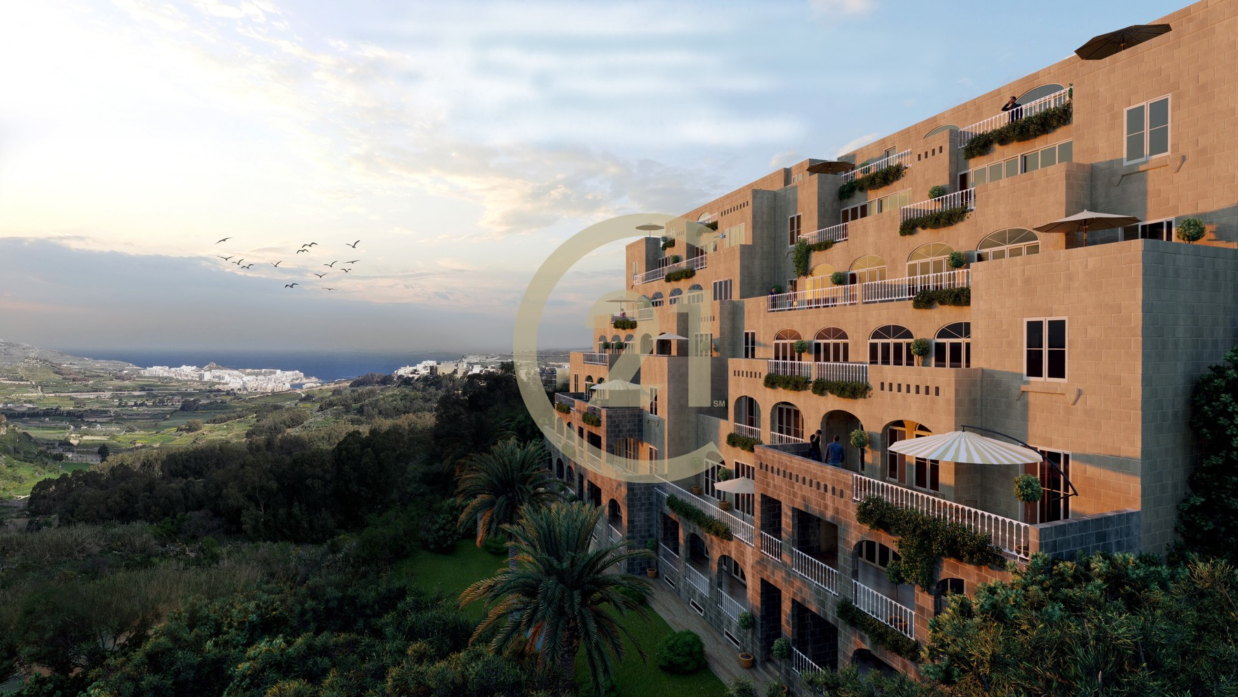 Apartment Enjoying Stunning Country Views & Large Terrace For Sale in Xaghra