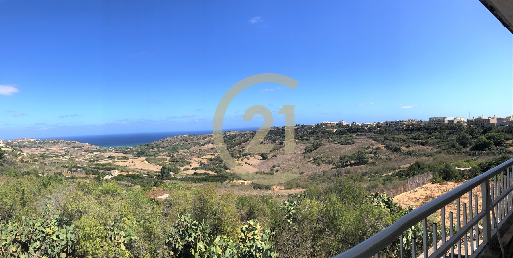 Apartment Enjoying Stunning, Country and Sea Views For Rent in Nadur