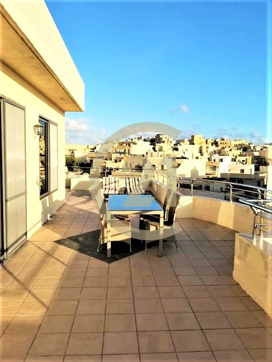Furnished Penthouse Enjoying Wrap Around Terrace For Rent in Qala