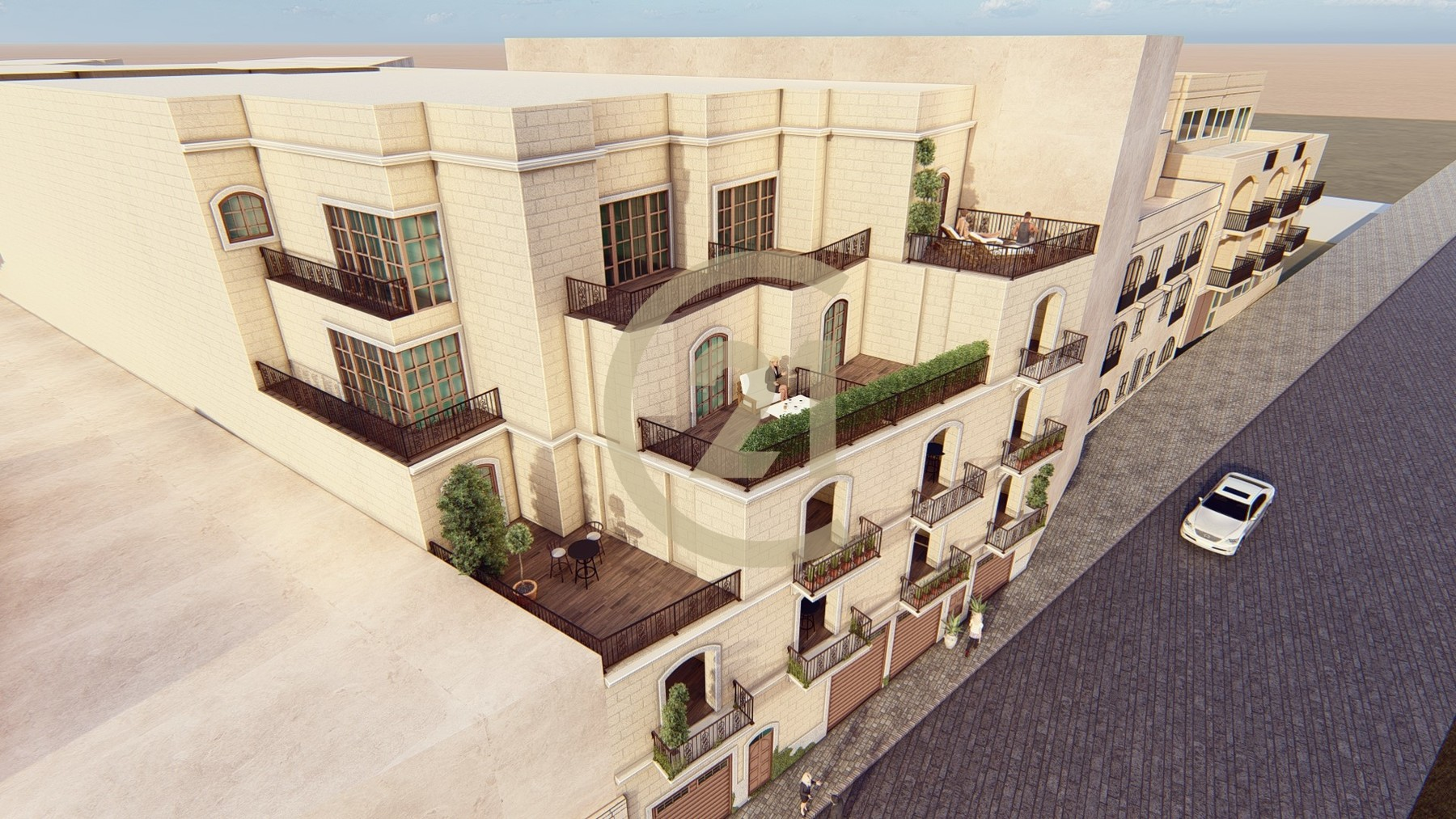 Three Bedroom Penthouse Enjoying Town and Country Views For Sale in Qala
