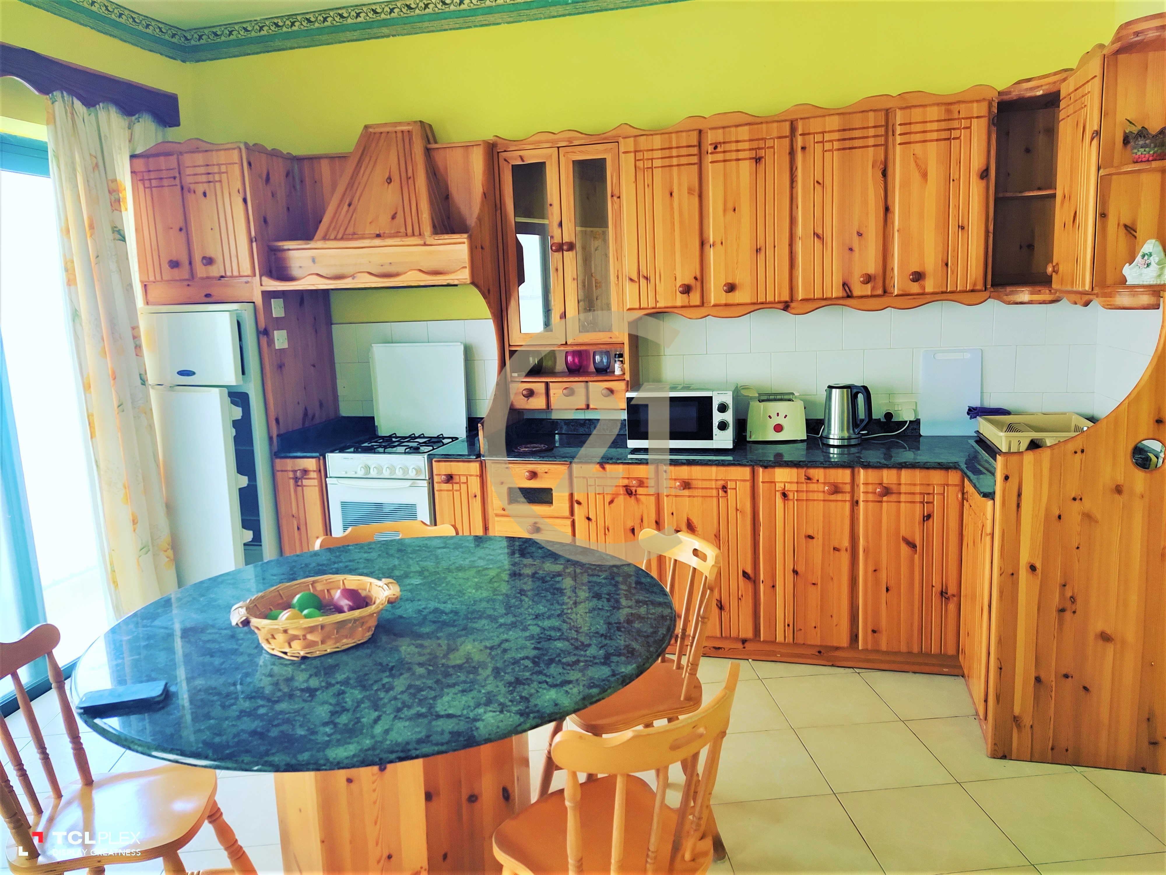 Furnished Two Bedroom Apartment Enjoying Sea Views For Rent in Marsalforn