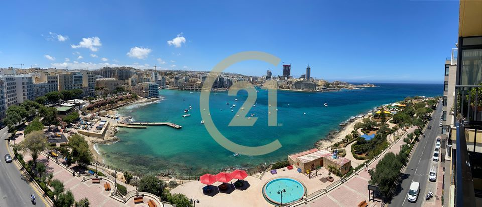 Spectacular Newly Refurbished Seafront Apartment in Sliema